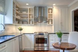 in style kitchen cabinets:  kitchen graceful shaped kitchen design with white shaker cabinetry and glossy white picture of in style