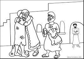 Good Samaritan Coloring Page Lds Free Bible Pages The Great G Story