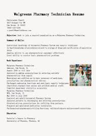 Gallery Of Resume Samples Walgreens Pharmacy Technician Resume