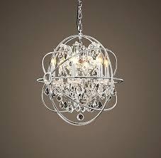 orb chandelier polished nickel foucaults foucault 44