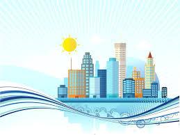 Download Template Big City Templates Graphics Blue Buildings
