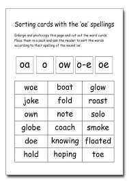 You got into work late, and now you're trying to thought shower fifteen or so medial ch words to use your phonics lesson. Oa Oe Ow Worksheets Worksheets