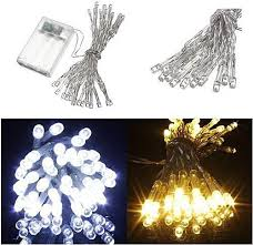 universal aa battery mini 10 20 30 40 leds cool white string fairy lights