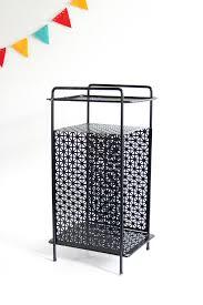 SOLD  Mid Century Modern Black Metal Plant Stand  Vintage Telephone  Table Mid Century Modern Metal Plant Stand N82