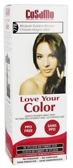 Love Your Color Non Permanent Hair Color 778 Medium Golden Brown 3 Fl Oz By Cosamo