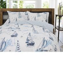 sailing boats super king size bedding
