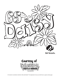 Girl Scout Coloring Pages Picture High Resolution Daisy Law Brownies