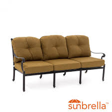 cool teak outdoor sofa in evangeline cast aluminum patio sofa by lakeview outdoor designs