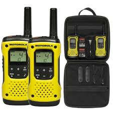 motorola walkie talkie yellow. motorola tlkr t92 h20 twin pack with case two way radio, walkie talkie yellow