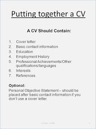 Importance Of A Resume What Information Does A Resume Contain