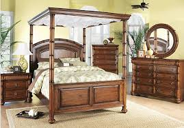 Cindy Crawford Home Key West Tobacco Canopy 6 Pc King Bedroom ...