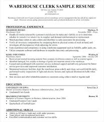warehouse clerk objective shipping receiving cover letter download resume