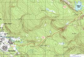 topographic map of the mallard lake trail yellowstone national
