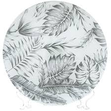 <b>Тарелка обеденная стеклянная</b>, 250 мм, Тропики серый DNN ...