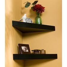 corner shelf design small triangular floating shelf