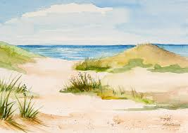 beach painting summer on cape cod by mice wiarda constantine