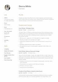12 Event Planner Resume Sample S 2018 Free Download