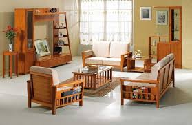 Wooden Sofa And Furniture Set Designs For Small Living Room Real Wood Living Room Furniture