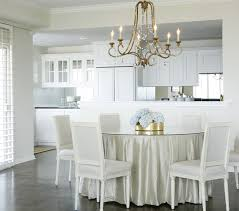 skirted dining table