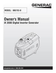 Generac Ix2000 Overload Light Stays On Generac Power Systems Inc Manualzz Com
