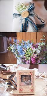 a rustic wedding at tewin bury farm with bride in 50s style tea length gown with