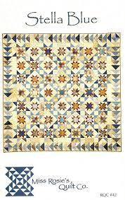 Stella Blue Quilt Pattern from Miss Rosie's Quilt Co   Blue quilts ... & Stella Blue Quilt Pattern from Miss Rosie's Quilt Co Adamdwight.com