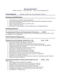 Job Summary Resume Examples Sample Nursing Resumes 100 Free Resumes Tips 52