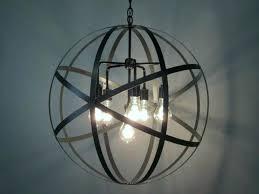 wood sphere chandelier home improvement