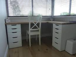 corner desks with file cabinet desk ideas diy cabinets