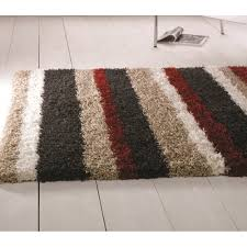 nordic channel black red rug