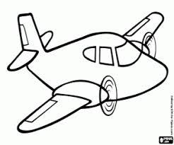 Kleurplaten Vliegtuigen En Andere Luchtvaartuigen Kleurplaat