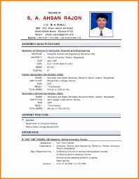Extraordinary Model Resume for Engineering College Lecturer On Sample  College Student Resume format Teacher Biodata format