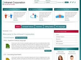 Intranet Requirements Template Jm Intranet Corporation Free Joomla Company Template
