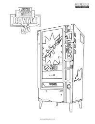 Fortnite Vendingmachine Coloring Page Super Fun Coloring Pages