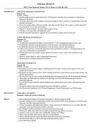 process technician resume sle as image file