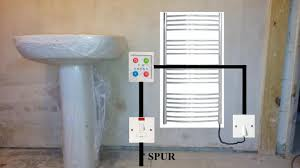 dual fuel towel heater in bathroom diynot forums the power will come via a spur from the bedroom behind the sink this will go to a switched fcu which will then go to the timer and out to a wall
