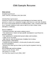 Cna Objective Resume Classy Cna Resume Objective Lesom