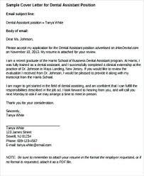 Cover Letters For Dental Assistant Dental Assisting Cover Letter Dental Assistant Cover Letter Dental