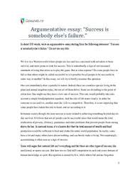 "argumentative essay ""success is somebody else s failure  argumentative essay ""success is somebody else s failure """