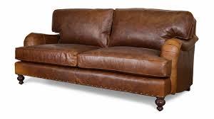 english arm pillow back leather sleeper sofa