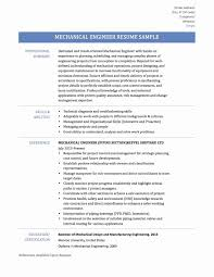 Magnificent Resume Of Diploma Mechanical Engineer Format For