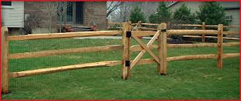 Split rail wood fence gate Western Red Agricultural Bellbrook Fence Company Products Bellbrook Fence Company