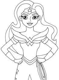 Looking for heart coloring pages for valentine's day, anniversary crafts, or just because they're sweet? Wonder Woman Wonder Woman Kids Coloring Pages