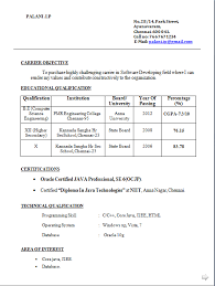 Gallery Of Freshers Be Resume Format Free Download Sample Resume