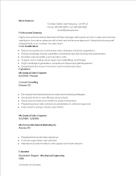 Free Mechanical Marketing Engineer Resume Templates At