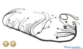 wiring specialties to the rescuse!! z32 series 300zx hybridz wiring specialties 2jz at Wiring Specialties Swap Harness