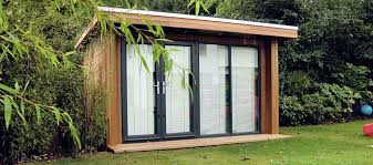 home office in the garden. Garden Office: With Blinds Home Office In The