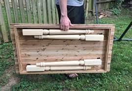 how to make a folding farmhouse table