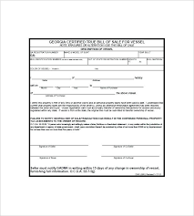 Blank Motorcycle Bill Of Sale Form Template Ga Gun – Scipion