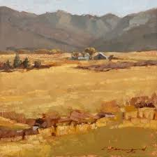 View from Vernon Summers 8x8in | Landscape paintings, Landscape, Painting